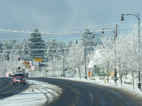 Fourth Plain Blvd. in the snow.