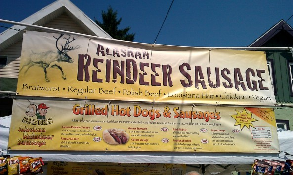 Reindeer sausage? Sorry, Santa - but how can we resist?!