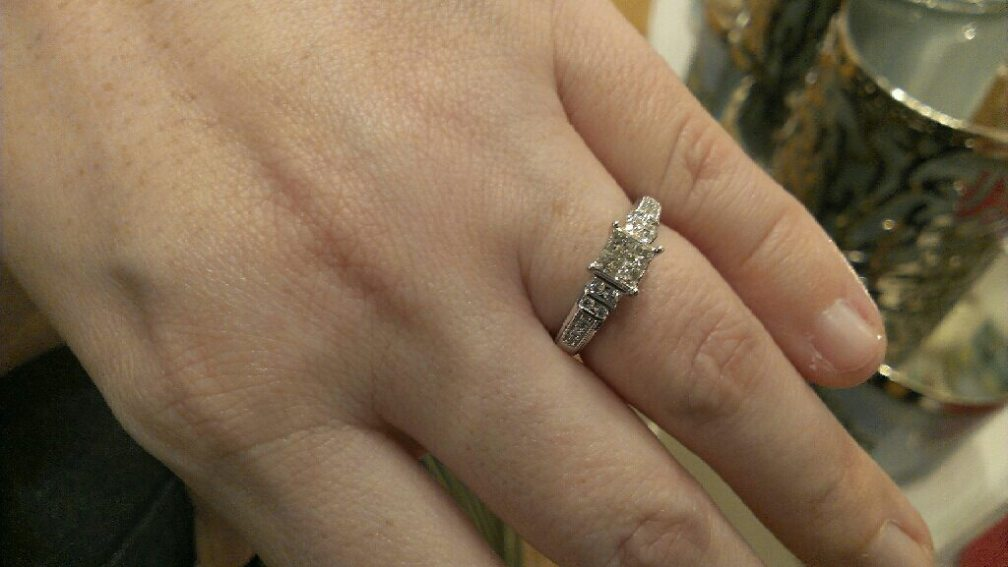 Tara's engagement ring.