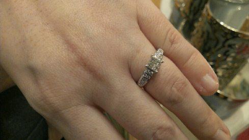 Tara's engagement ring.