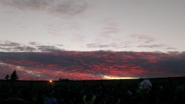 Sunset over the Sleep Country Amphitheater.