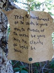 Somebody hung inspirational hand-written signs along the trail.