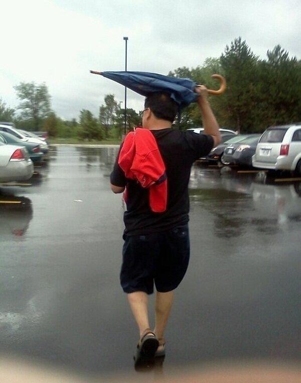 How Portlanders Use Umbrellas. (Courtesy of 94/7 FM).