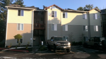 The morning after. As bad as the fire was, it could have been worse.