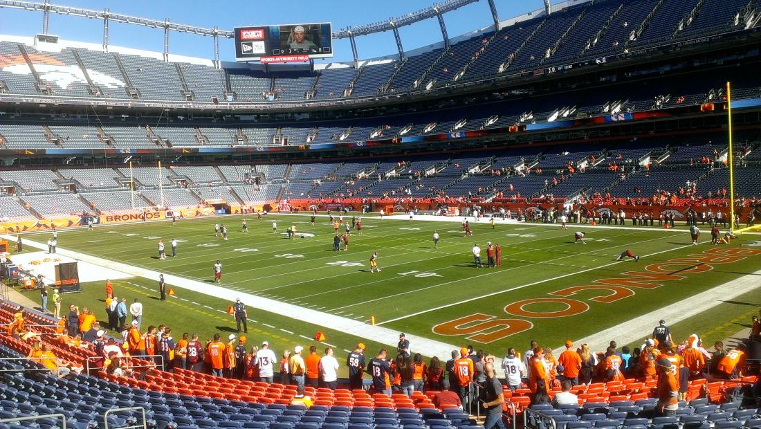 Inside the stadium!