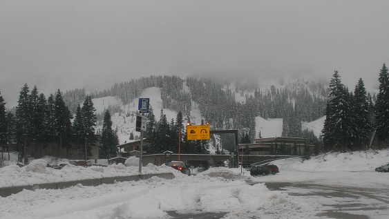 Snow at Stevens Pass.