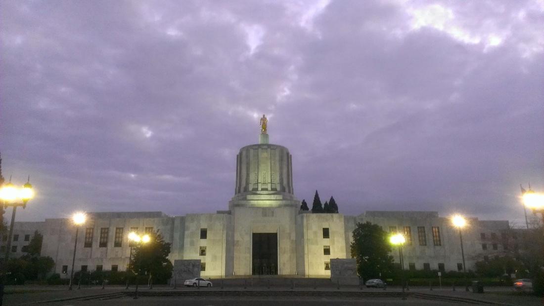 Oregon state capitol in Salem.