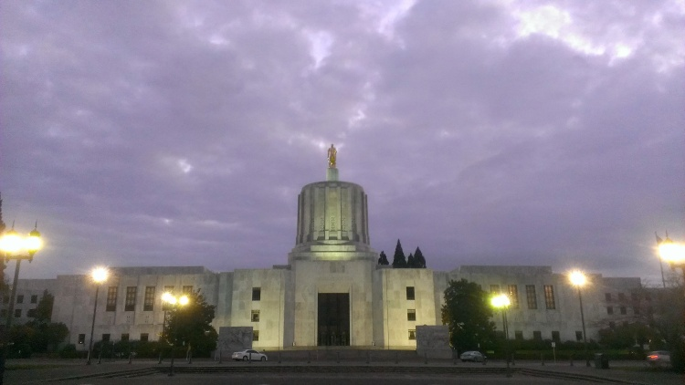 Oregon state capitol in Salem.