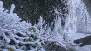 Ice at Horsetail Falls
