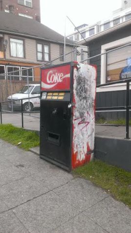 Seattle's infamous haunted Coke machine.
