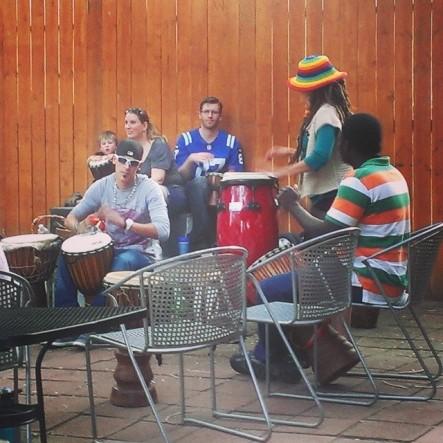 Carson drum circle.
