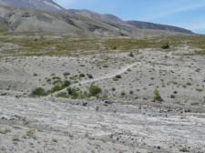 Walking across the pumice plain.