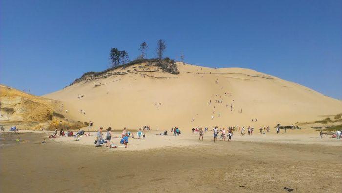 Cape Kiwanda sand dune.  My White Whale.