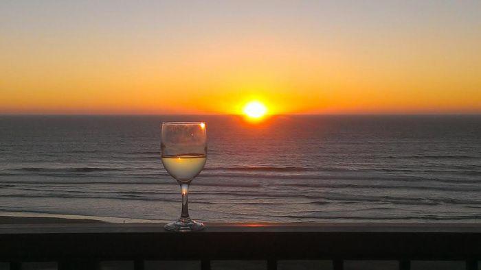 Friday evening's sunset.