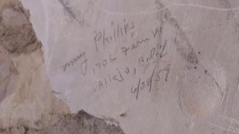 Really old graffiti.