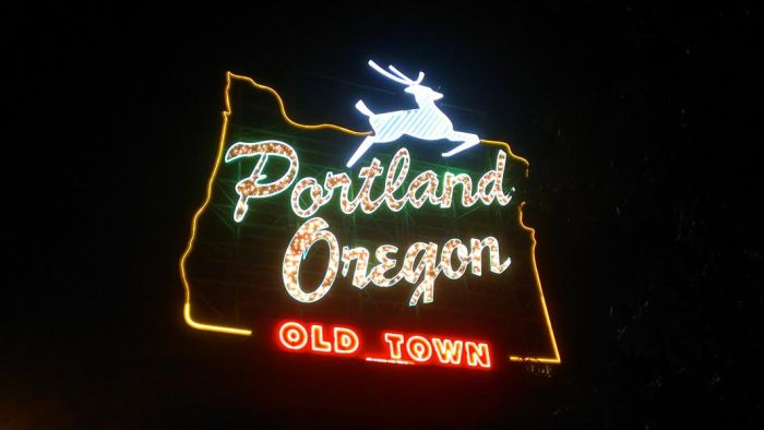 The Portland sign.