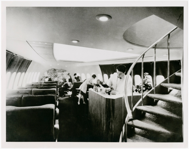 Interior of a Pan Am 747, circa a hell of a long time ago.