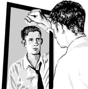 man-looking-in-mirror