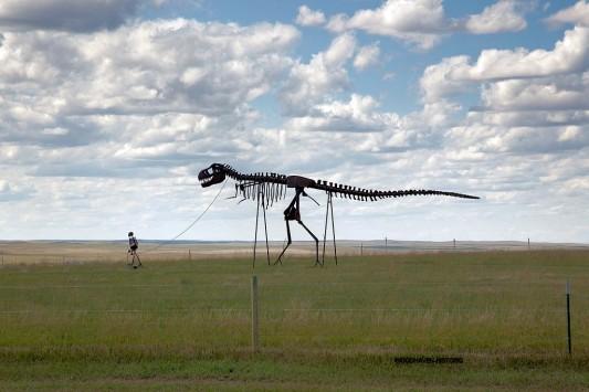 Dinosaur on Leash