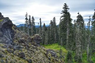 June Lake lava beds.