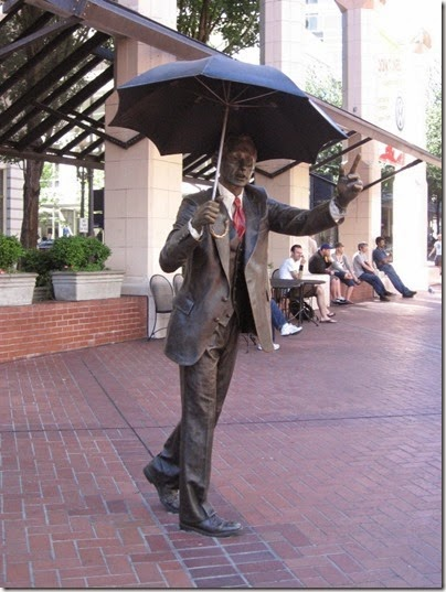 Despite this well-known statue in Pioneer Square, no self-respecting Portlander carries an umbrella.